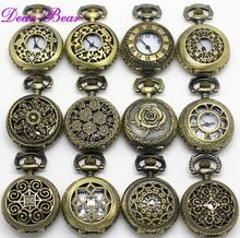 Mixed Designs Antiken Bronze Alice im Wunderland Quarz Taschenuhr Halskette, 12 teil/los, großhandel, mix designs APW003(China (Mainland))