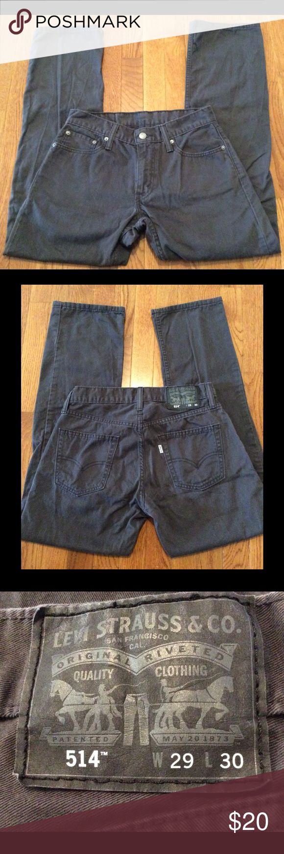 Men's Levi's 514 Jeans 29x30 Very gently used, worn few times & outgrew, no flaws, pewter gray...  not sure if straight or slim straight, will check tag & update soon Levi's Jeans