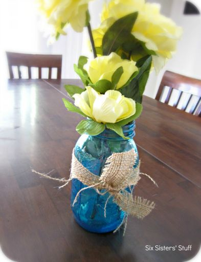 stained mason jar tutorial Using normal mod podge and food coloring