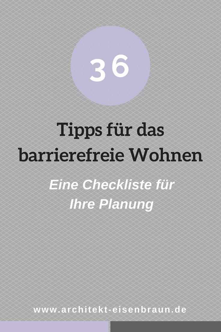 36 Tipps für das barrierefreie Wohnen - praktische Checkliste für die Planung  www.architekt-eisenbraun.de