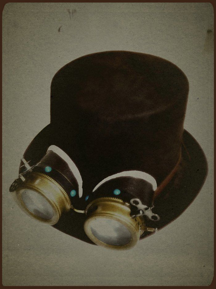 Top Hat with victorian goggles