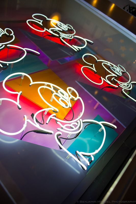 Neon Mickey from Disney's Contemporary Resort #disneyresort #wdw