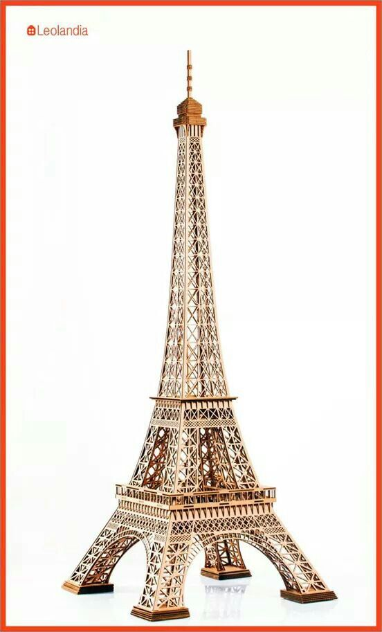 Wieża Eiffla (La tour Eiffel) z tektury http://leolandia.pl