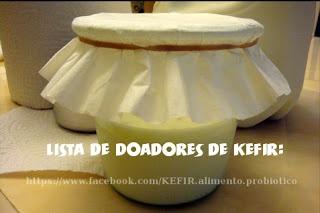 Quer ganhar doação dos grãos de Kefir?