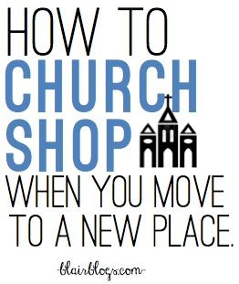 It can be really hard to find a church that you love when you move to a new city. I recently went through the process myself, here's what I've learned!