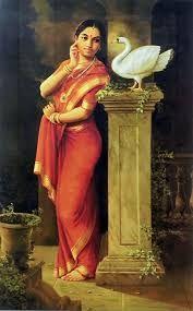 Image result for raja ravi varma paintings lady with lamp