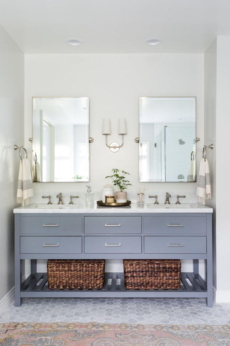 How You Style Mcgee Co Grey Bathroom Vanity Bathroom Makeover Bathrooms Remodel