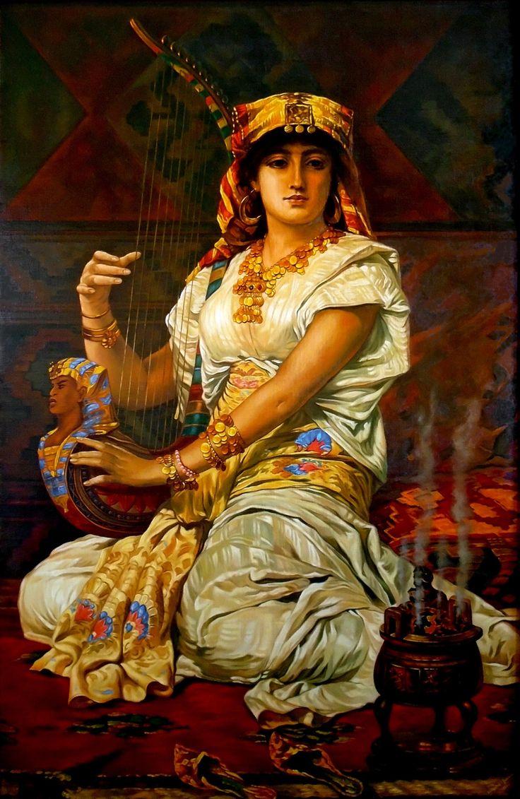 An Almeh, 90cm x 60cm, Obraz olejny na płótnie