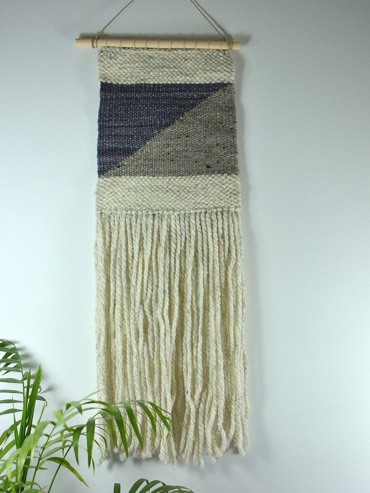 Wall art decorating idea. Wall art geometric weaving.  Handmade by Canadian artisan. Shop all handmade products at www.eklecticashop.com