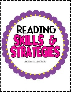 Focus Wall: Reading skills and strategies posters for a focus wall based off of Treasures