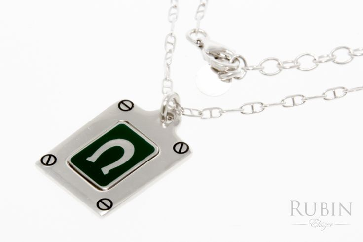 Pálcás pancer ródiumos ezüst nyaklánc medállal  www.rubinekszer.hu