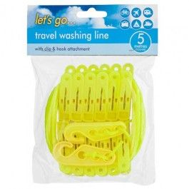 This 5 metre washing line is quick and easy to use taking up little space on your travels.