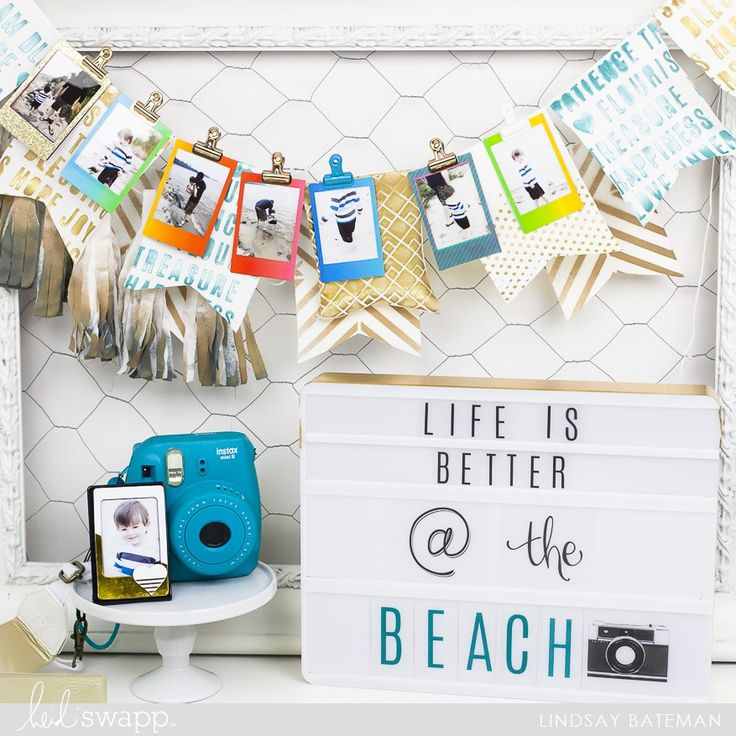Using Texture Paste and Stencils to create a Summer Banner @lindsaybateman for @heidiswapp
