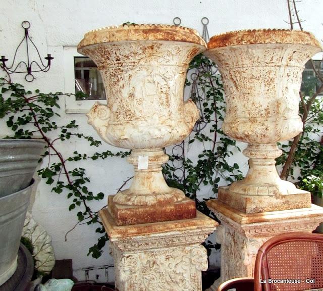 Antique Garden Urns