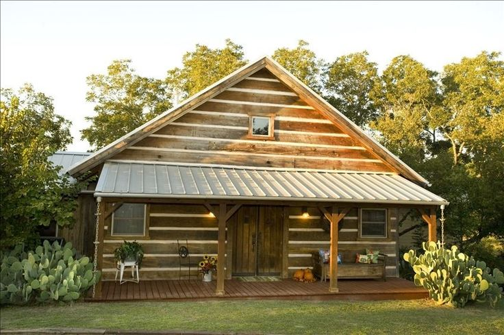 One of the three cabins on the property!