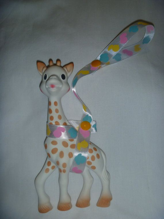 Duck Sophie the Giraffe Leash/Toy Saver Strap