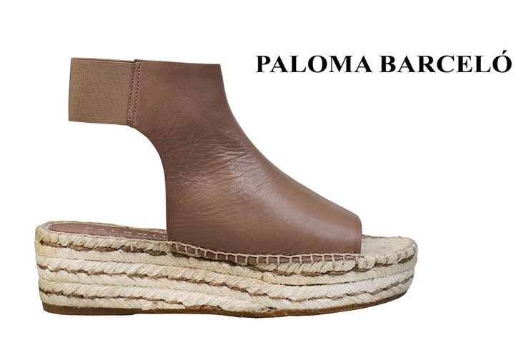 Leather, ankle wedges espandrilles by Paloma Barcelo. Shop your unique pair of style in Thessaloniki in Galleria Di Scarpe