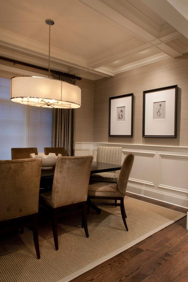 Chair Rail And Wallpaper Seeley Dining Room Traditional Dining Room Chicago Michael Abrams Limited