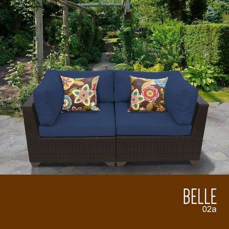 Belle 2 Piece Outdoor Wicker Patio Furniture Set 02a. With Its Contemporary  Design And Comfortable