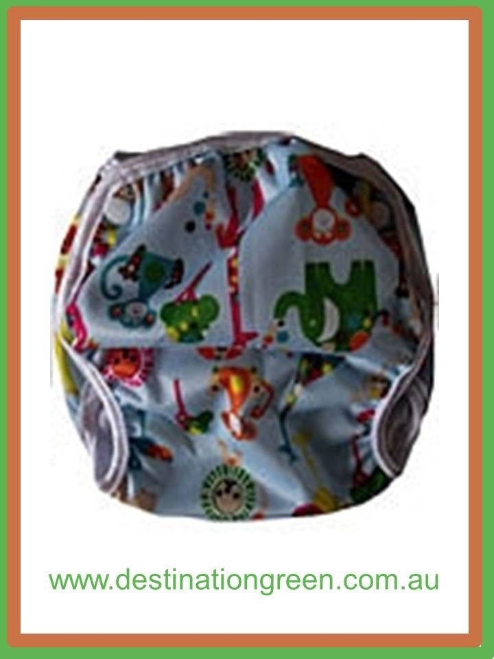 Destination Green Swim Nappy - circus animals, $16.00