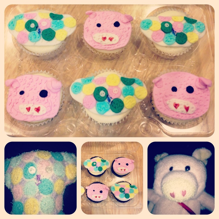 Speckles & Piggyolo  Special cupcakes for a little girl who is celebrating her bday at school