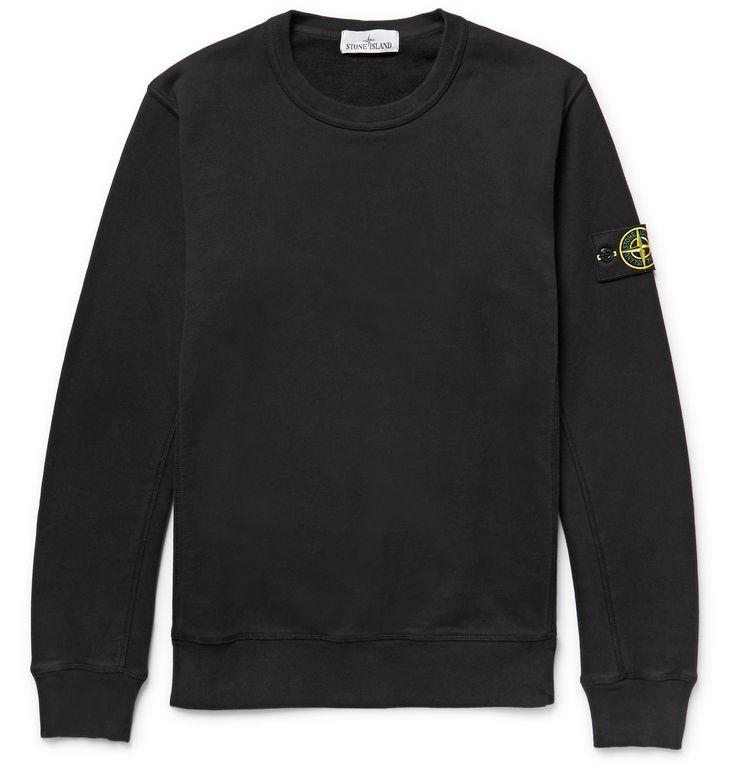 Stone Island - Fleece-Back Cotton-Jersey Sweatshirt