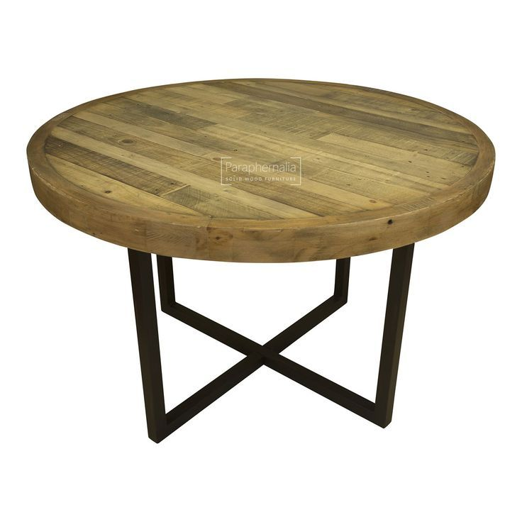 Reclaimed Wood Round Dining Table, Round Reclaimed Dining Table