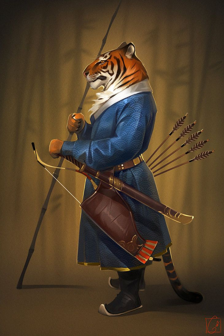 Just a Tiger archer ... in honor of the fact that the tiger population has increased for the first time in 100 years.
