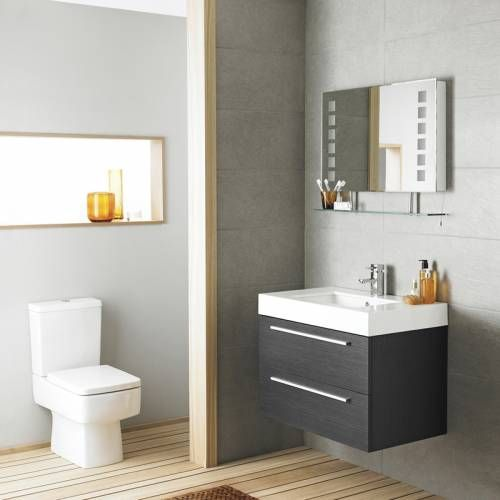 Hudson reed meuble sous lavabo suspendu 800x600x480mm for Ikea meuble sous lavabo