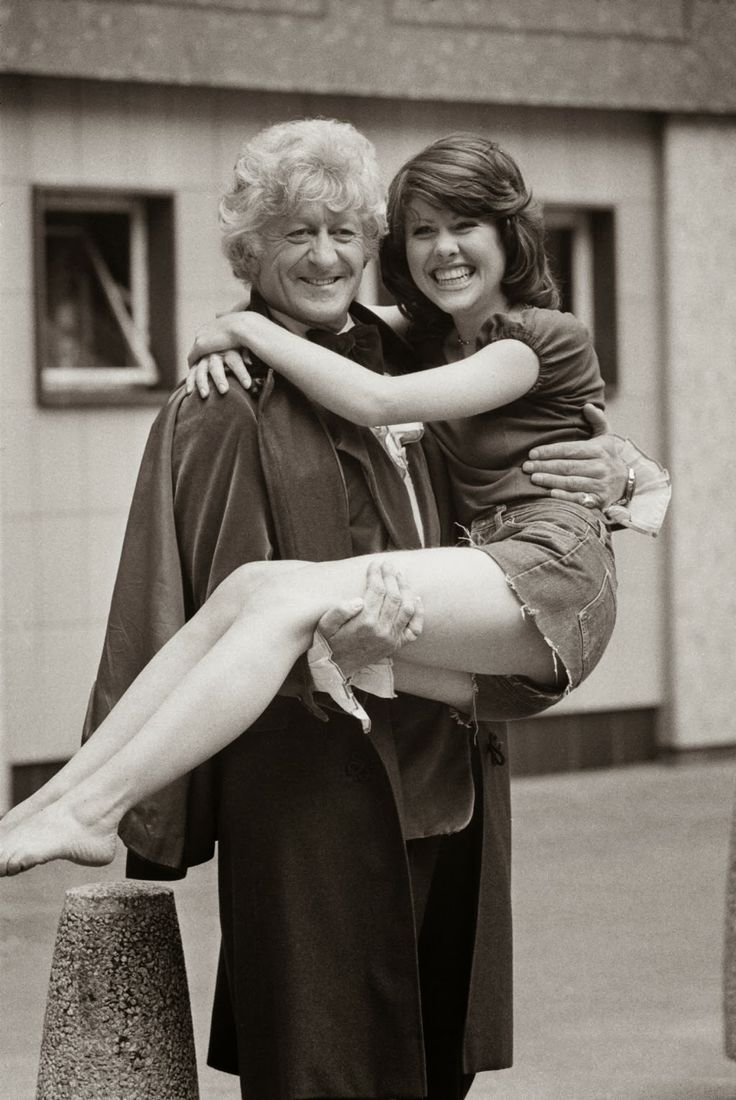 The Third Doctor (Jon Pertwee) with Sarah Jane Smith (Elisabeth Sladen).