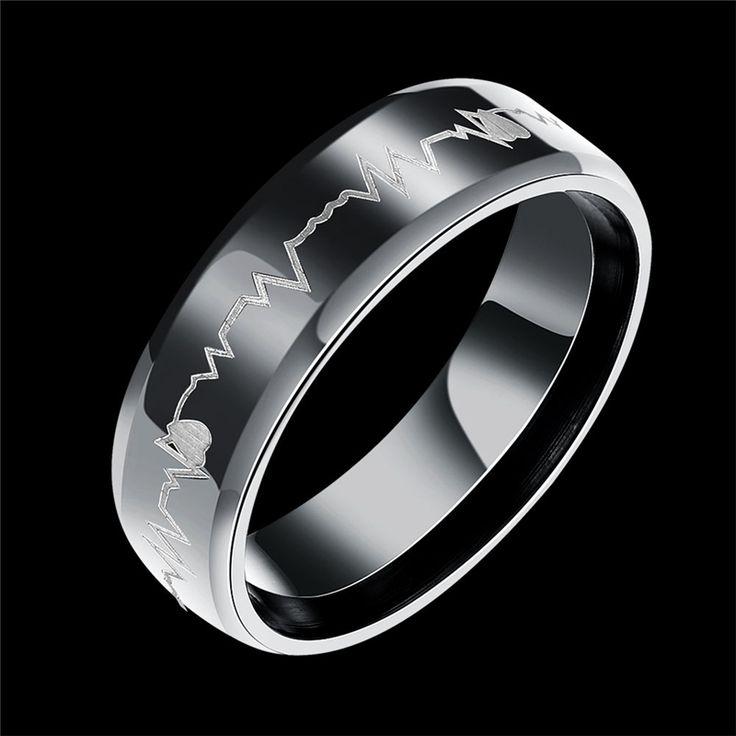 Men Titanium Stainless Steel Black Ring lotes al por mayor bisuteria championship erkek yuzuk US Size 7-10 Fashion Jewelry