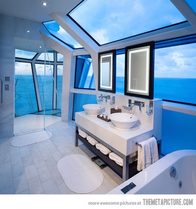 ♂ Life by the sea Bathroom with ocean view