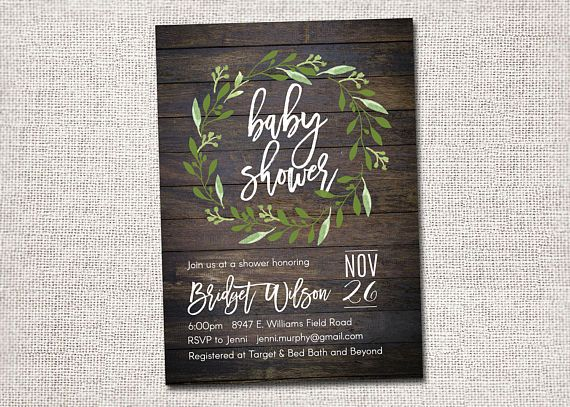 Baby Shower Invitation Baby Shower Invite Modern baby shower