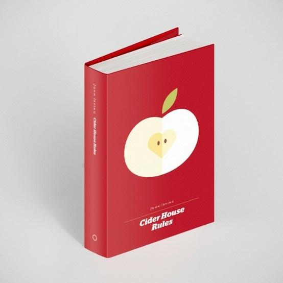 Çok satan kitapların yeniden tasarlanmış kitap kapakları. Sevdiğinize güzel bir hediye olabilir :) Cider House Rules, John Irving