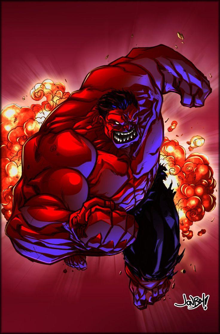 #Red #Hulk #Fan #Art. (Red Hulk) By: Jonboy Meyers. ÅWESOMENESS!!!™ ÅÅÅ+
