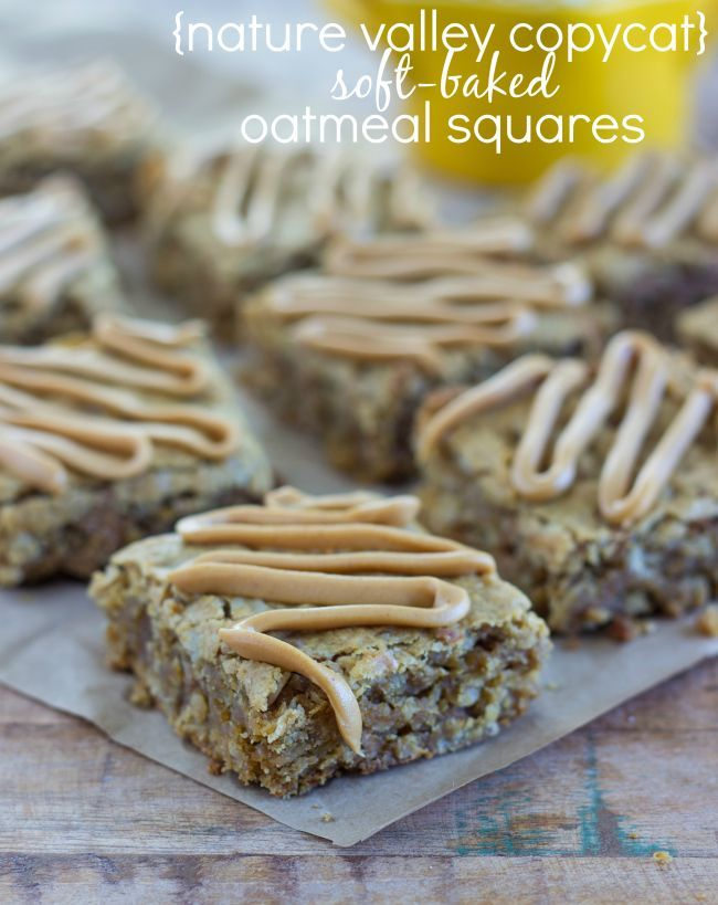 Nature Valley Copycat Soft-Baked Oatmeal Squares from Chelsea's Messy Apron