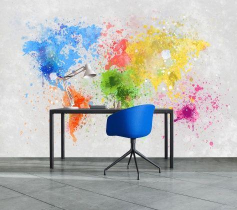 Colorful World - Tapetit / tapetti - Photowall