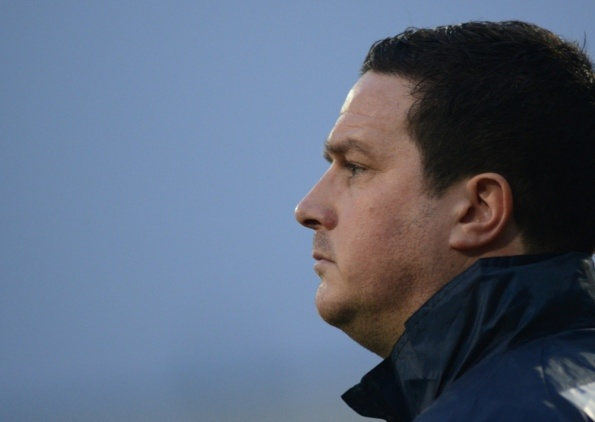 Mansfield Town FC v Liverpool, FA Cup 3rd Round.  Pictured is manager Paul Cox.