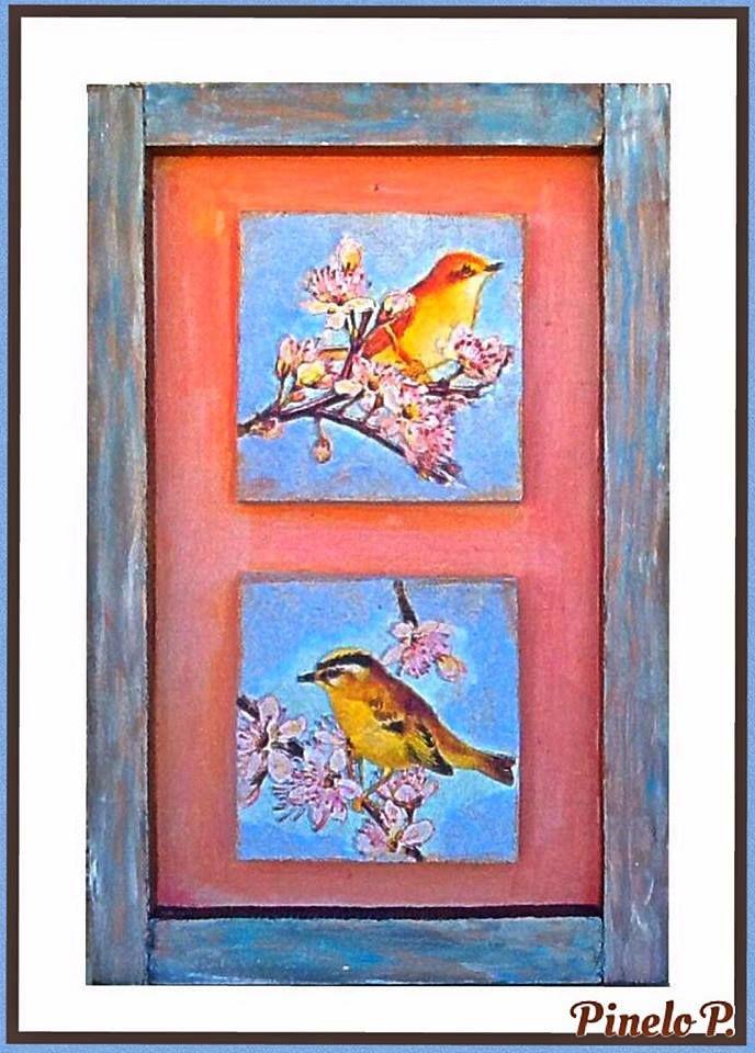 Decorative spring frame! www.facebook.com/pinelokallitexnimata