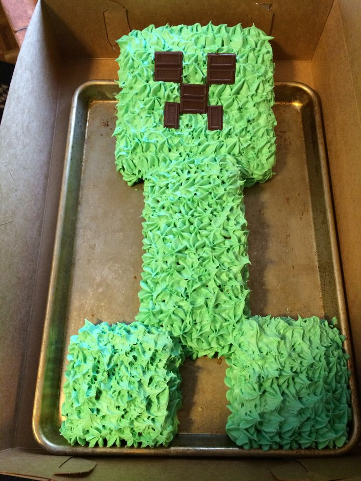 Mind craft creeper cake