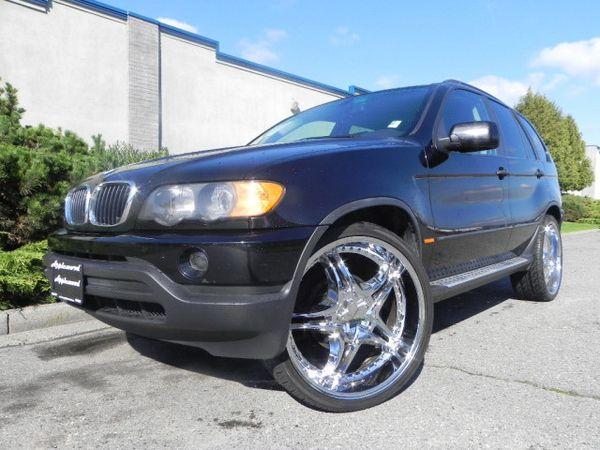BMW suv rims   2002 BMW X5 3.0i 24 RIMS Leather 4WD SUV