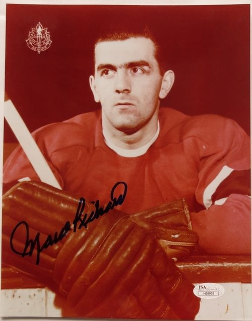 Maurice Richard Signed Montreal Canadiens 8x10 Photo JSA