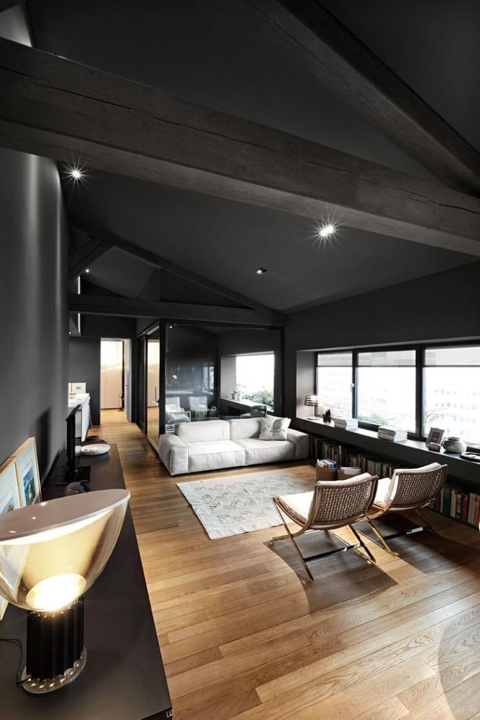 les 25 meilleures id es de la cat gorie plafond noir sur pinterest serviettes noires et. Black Bedroom Furniture Sets. Home Design Ideas