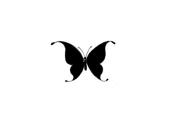 24 best Solid Black Butterfly Tattoo images on Pinterest ... - photo#27