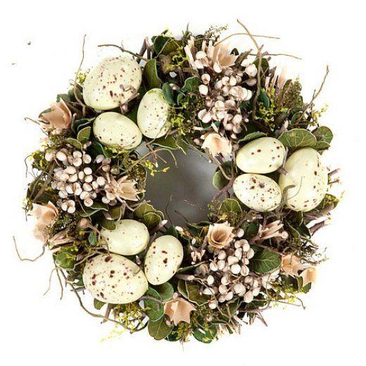 Dekoracje świąteczne na Wielkanoc, wieniec