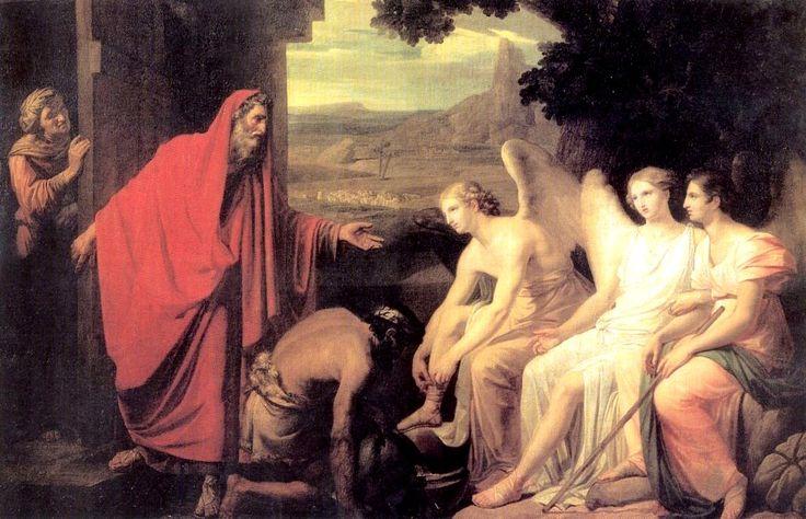 1821. Явление Аврааму трех ангелов у дуба Мамврийского. ГРМ
