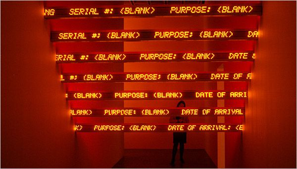 Jenny Holzer - Red Yellow Looming
