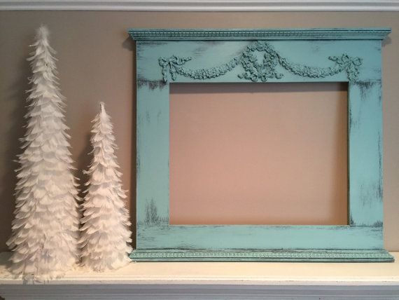 16x20 Picture Frame Shabby Chic Furniture by VintageSideoftheMoon