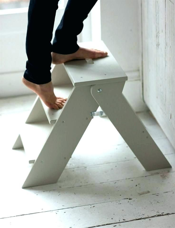Diy Wooden Step Stool In 2020 With Images Kitchen Step Stool
