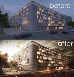 Architectural Visualisation Post Production – before & ... | ARCH-student.com